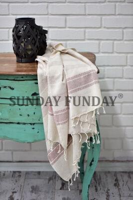 SundayFunday - LINEN PEŞTEMAL PAREO KİREMİT