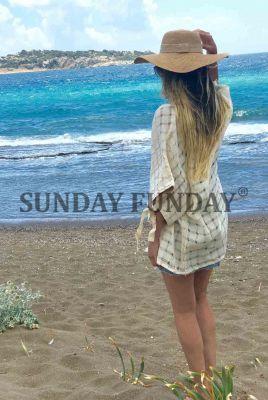 SundayFunday - KREM EL DOKUMA KİMONO