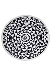 YUVARLAK PLAJ HAVLUSU AZTEC BLACK - Thumbnail