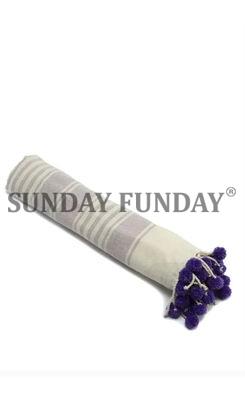 SundayFunday - POMPOM PEŞTEMAL PLAJ HAVLUSU MOR