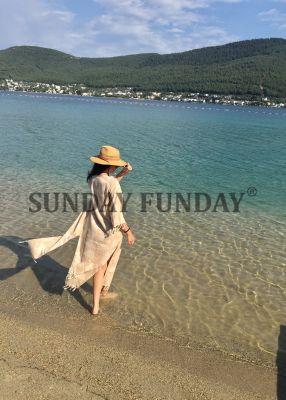 SundayFunday - KUM BEJİ JAKARLI KİMONO